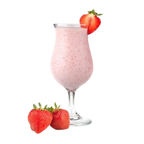Молочный клубничный коктейль
